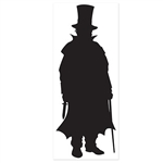 Which detective at your party is going to catch the villain? This Villain Silhouette stands six feet tall and measures 30 inches across. It's printed on a clear material and comes one Villain Silhouette per package.