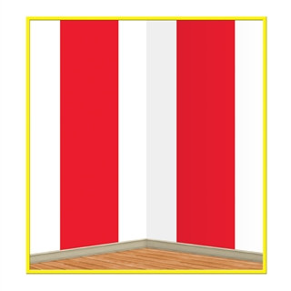 Red & White Stripes Backdrop