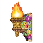 3-D Tiki Wall Torch w/Flame