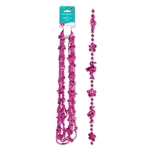 The Flamingo and Hibiscus Beads feature a bright, eye-catching cerise color that will look great with your Hawaiian shirt and colorful lei. It measures 33 inches and we just know you're going to love it! Comes six necklaces per package.