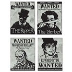 These Sherlock Holmes Wanted Sign Cutouts would be the talk of the town at your Sherlock Holmes or murder mystery party. Each cutout measures 11 3/8 inches wide by 15 1/4 inches tall. Comes four cutouts per package.