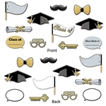 Picture your guests with our Graduation Photo Fun Signs! Grab a photo prop or two and have someone snap your photo for some fun memories. The props measure anywhere from 7 inches to 12.25 inches and there are 11 pieces in the package.