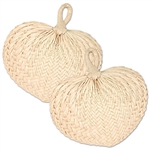 Enjoy a strawberry daiquiri poolside on a warm summer day and make sure you stay cool by fanning yourself with one of these natural Raffia Fans. Comes two fans per package.