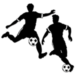 Decorate for a soccer theme party or end of the season soccer banquet with our Boy Soccer Silhouettes. One player is dribbling the ball, while the other player is getting ready to kick/shoot the ball. Comes two per package.