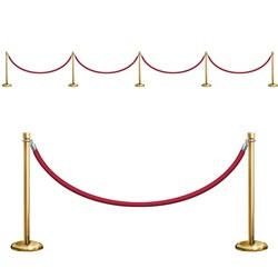 Stanchion Party Props (9/pkg)