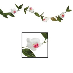 Elite Collection White Orchid Garland