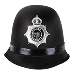 Place the Bobby Hat on your head, practice your British accent, and be prepared to lay down the law! This costume hat is adorned with a plastic police  emblem and is sized to fit most adults. Accessorize with handcuffs, and a badge. No returns.