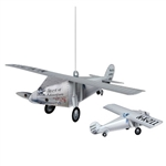 The 3-D Airplane Centerpiece is made of cardstock and measures 15.25 inches by 13.75 inches. Decorated with different flags from around the world and various other details. It is perfect for an international theme party! Contains one per package.
