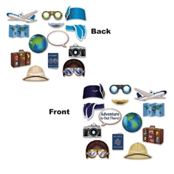 The Around The World Photo Fun Signs are great for a going away party or international theme party! They are colorfully printed on cardstock. Signs range in measurements from 5.5 inches to 11.25 inches. Printed on both sides. Sold 13 per package.