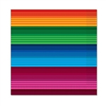 The Fiesta Beverage Napkins are made of 2-ply paper and measure 5 inches by 5 inches. They are printed with the bright and vibrant traditional serape color scheme. Contains sixteen (16) napkins per package.