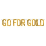 The Foil Go For Gold Streamer is made of gold foil and printed on both sides. Measures 7 inches tall and 5 feet long. Package includes 1 white cord and 9 letters. Contains one per package. Simple assembly required.