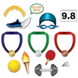 The Summer Sports Photo Fun Signs are colorfully printed on cardstock. Printed on two sides with different designs. Sizes range in measurement from 3 1/4 inches to 10 1/2 inches. Contains (13) pieces per package.