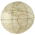 "Throwing a globe trotting themed party?  This Around The World Paper Lantern adds interest, style, and fun to your party's decor. Printed completely around, when expanded this 15.5"" diameter lantern has the full global map."