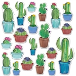 "With 20 pieces per package that range in size from 3.5"" to 15.5"" tall, these cactus cutouts will look great grouped together in a cactus garden or strategically placed around your venue."
