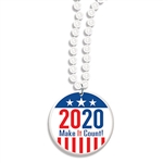 Beads with 2020 Make It Count Medallion