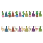 Our Llama & Cactus Streamer Set will add the perfect touch, and it's a two-in-one bargain!  Streamer set includes six cactus and six llama plus 12 tassels. Use just the cactus and streamers, llamas and streamers, or mix and match.
