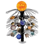 "Your decorations will be out of this world with this Solar System Cascade Centerpiece! The centerpiece stands a full 18"" tall and includes a clear plastic 3.25"" base for stability."