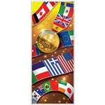 International Sports Door Cover - Hosting a sports themed party?  Make your entrance grand with this dazzling International Sports Door Cover.