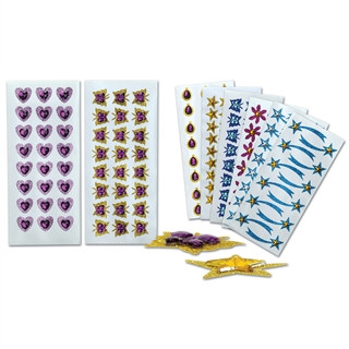 2 Sheets-Assorted Glittered Jeweled Stickers