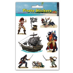 Pirate Stickers (4 sheets/pkg)