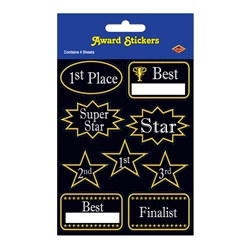 Award Stickers (4 sheets/pkg)
