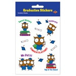 Owl Graduate Stickers (4 sheets/pkg)