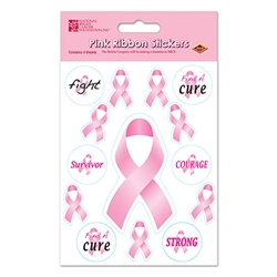Pink Ribbon/Find A Cure Stickers