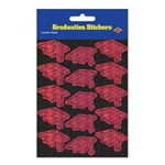 Prismatic Maroon Grad Cap Stickers (2 sheets/pkg)