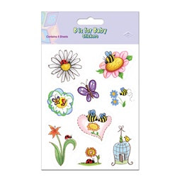 B Is For Baby Stickers (4 sheets/pkg)