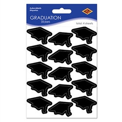 Black Graduation Cap Stickers