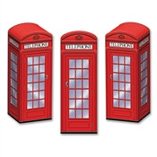 Phone Booth Favor Boxes (3 Per Package)