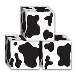 Cow Print Favor Boxes (3/Pkg)