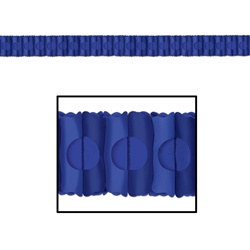 Medium Blue Tissue Garland