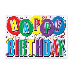 Printed Hi-Gloss Foil Birthday Sign