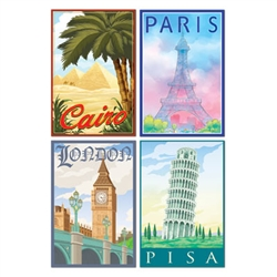 International Travel Cutouts (4/pkg)