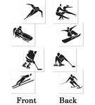 Winter Sports Cutouts