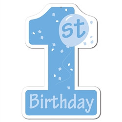 Blue 1st Birthday Cutout