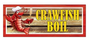 Crawfish Boil Sign