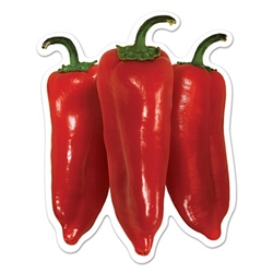 Mini Chili Pepper Cutouts (10 Cutouts Per Package)