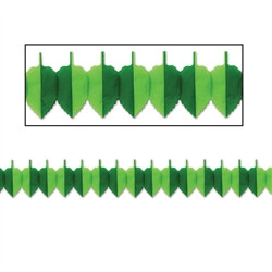 Green Tissue Spring Leaf Garland