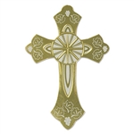 Gold Foil Cross Silhouette (1/pkg)
