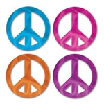 Mini Foil Peace Sign Cutouts