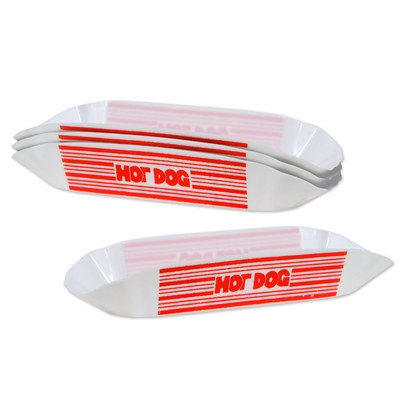 Plastic Hot Dog Holders (4/Pkg)