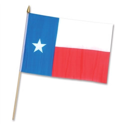 Rayon Texas Flag (11 in x 18 in)