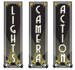 Lights, Camera, Action Cutouts (3/pkg)