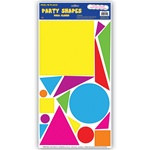Party Shapes Peel N Place (17/sheet)