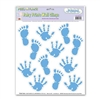 Blue Baby Prints Peel N Place (12/sheet)