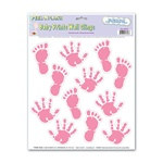 Pink Baby Prints Peel N Place (12/sheet)