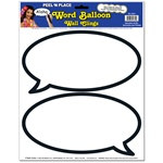 Word Balloon Peel N Place (2/sheet)