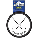 Face Off Hockey Puck Decal